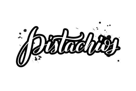 Vector calligraphy illustration isolated on white background Illustration