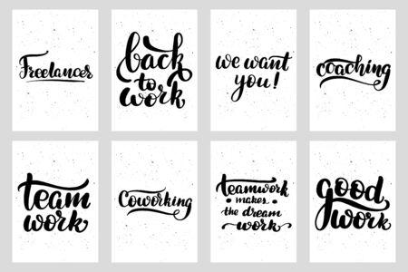 Work freelance hand drawn inspiration postcard typography Ilustrace