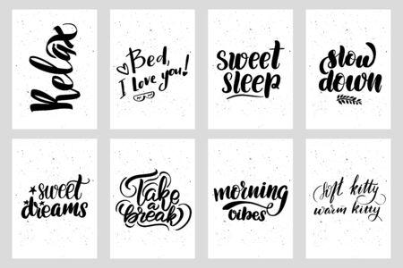 Sweet cute hand drawn inspiration postcard typography