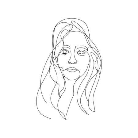 woman beauty minimalist, vector stock one line illustration Stock fotó - 149623358