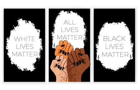 Black lives matter. African American arm gesture  イラスト・ベクター素材