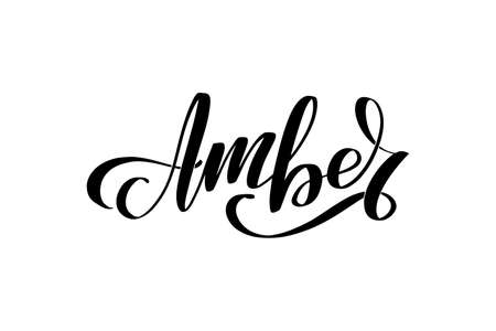 Vector calligraphy illustration isolated on white background. Ilustración de vector