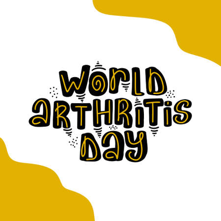 World Arthritis Day. Template for postcard invitation card