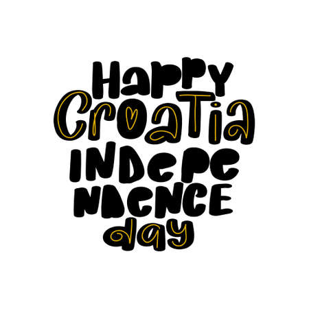 Happy Croatia Independence Day. Great modern vector stock