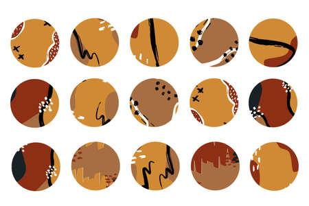 Boho terracotta Cover Highlight Icon. Abstract art logo element. Logó