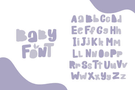 Alphabet. Doodle letters for design. Cute hand drawn characters. Ilustrace
