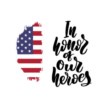 In Honor Of Our Heroes USA Memorial Day Illusztráció