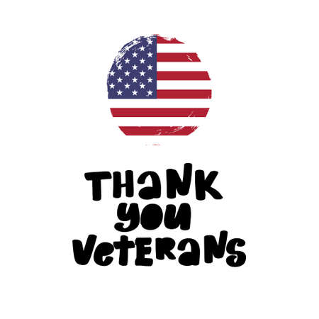 Thank You Veterans Creative illustration, poster or banner