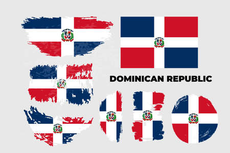 Independence day of Dominican Republic country. Abstract flag in shape Ilustração