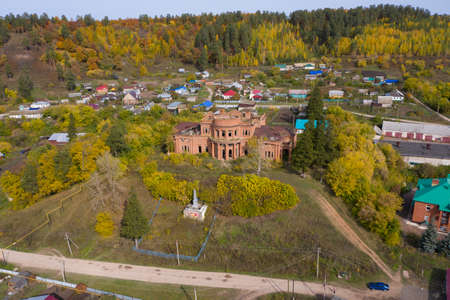 An old abandoned mansion, Deevs castle in the village of Znamenka. Belebey District, Bashkortostan, Russia.