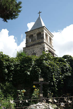 Tower of the Koman monastery in Abkhazia.