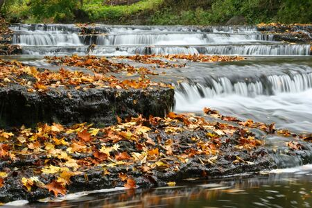 Autumn waterfall in Estonia photo