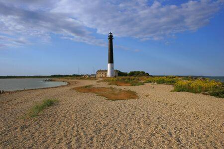 The main Southern lighthouse on island Saaremaa in Estonia Stock Photo