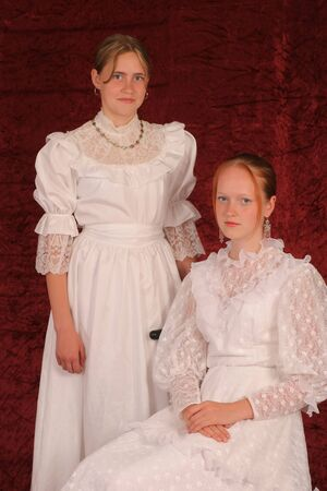 Two young ladies from the XIX century