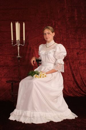 Beautiful young lady from the XIX century