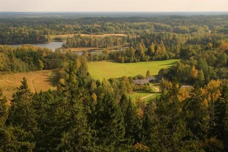 Big view over country, Estonia, Suur-Munamagi