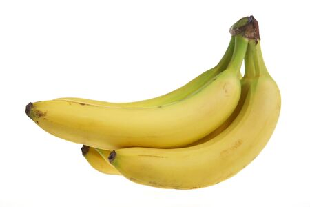A bunch of bananas isolated on white.
