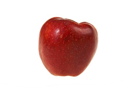 ripe red apple isolated on white Stock Photo