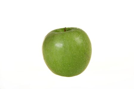 Green Granny Smith apple isolated on a white
