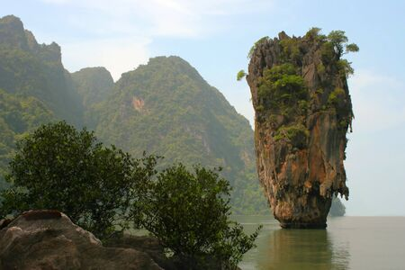 Thailand. A province Phang Nga, more than 40 islands unusual form, near Phuket. On film