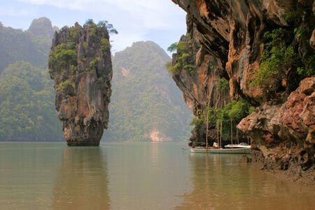 Thailand. A province Phang Nga, more than 40 islands unusual form, near Phuket. On film