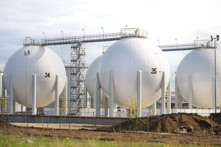Big White gaz and fuel Storage Tanks