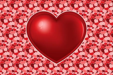 Heart texture for many varicoloured hearts Illustration