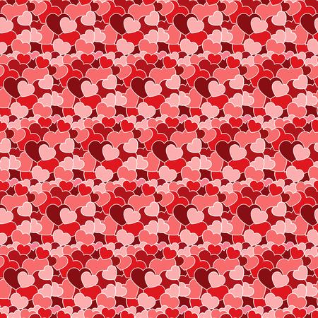 Many varicoloured hearts on seamless pattern