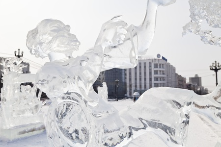 Ice sculpture on a square of the city Stock Photo - 18000020