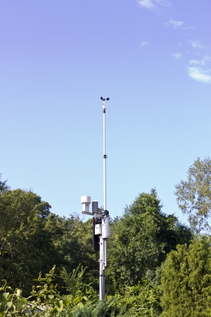 meteorological: The meteorological station costs in the wood and watches weather