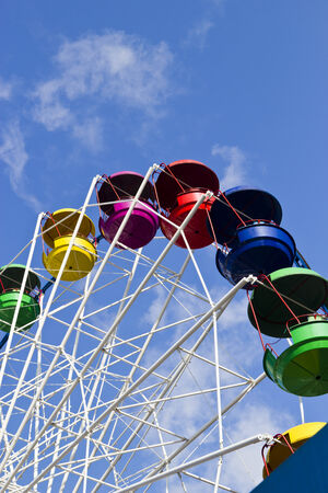 Empty big wheel in the bright sunny day photo