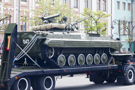Military equipment on march to the area of operations