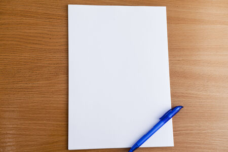 anything: The clean sheet of paper is ready to writing anything