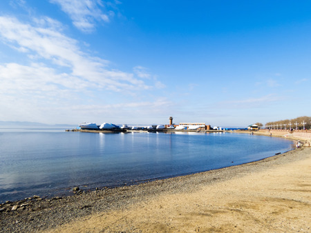 cape canaveral: The seashore in the city in sunny autumn day Stock Photo
