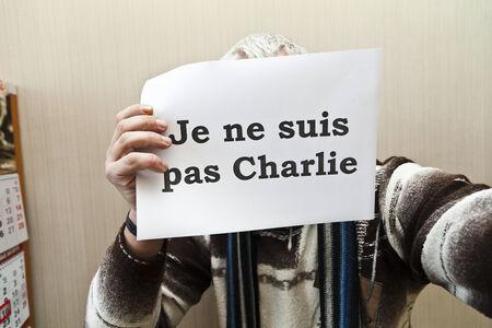 charlie: Je ne suis pas Charlie - it is a protest against marasmus