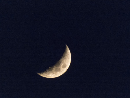 The moon in the night sky shines very brightly Standard-Bild