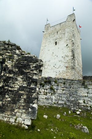 eras: Ruins of ancient fortress remind people of last eras Stock Photo