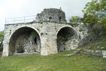 Ruins of ancient fortress remind people of last eras Stock Photo