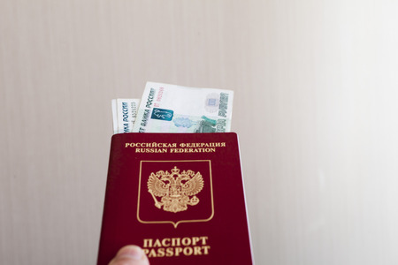 foto carnet: Passports on a table lie waiting for border control and a trip