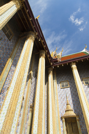 pleasing: The beautiful Buddhist temple is pleasing to the eye of visitors and parishioners Stock Photo