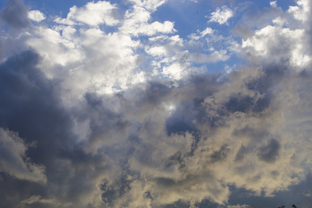 foretell: Clouds in the sky foretell a fast big rain Stock Photo