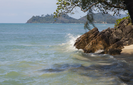noon: Beautiful sea landscape in the hot afternoon at noon