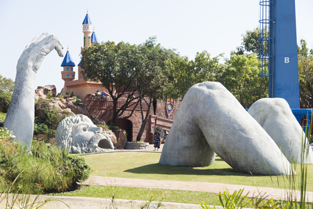 The beautiful city park pleases the visitors with unexpected surprises