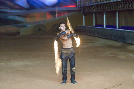 The beautiful fiery show attracts many viewers Sajtókép