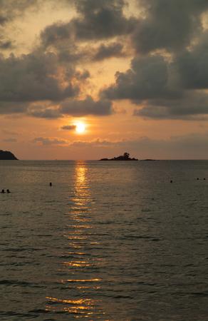 Decline over the sea very beautiful, especially in tropics Stock Photo