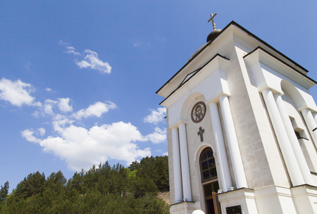 The orthodox chapel in mountains costs and reminds of eternal