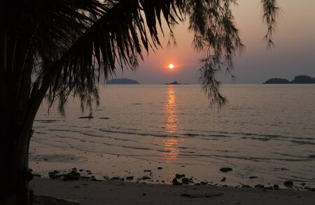 Beautiful tropical sunset calls to come here again
