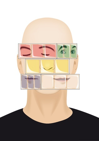 Variable human emotions depicted in the form of cubes