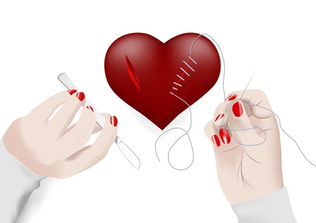 suture: Man heart in the power of women