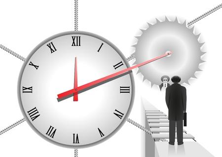 horas: Situaci�n de la vida, cuando tienes que elegir: ir s�lo hacia adelante o s�lo hacia atr�s Vectores